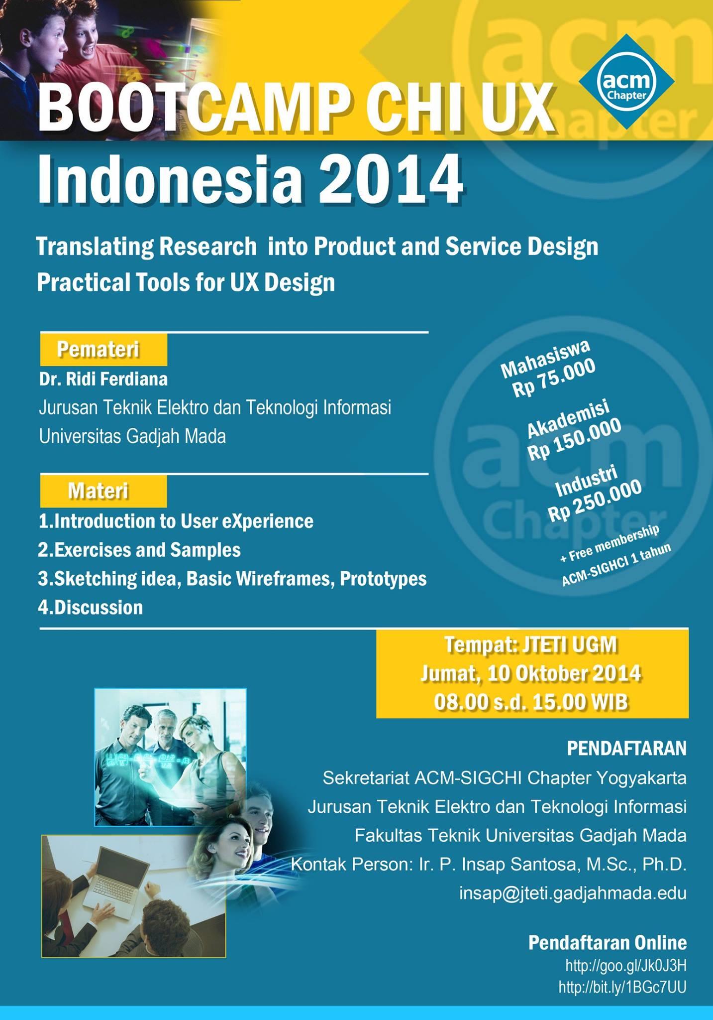 Yogyakarta Bootcamp - CHI UX Indonesia 2014.