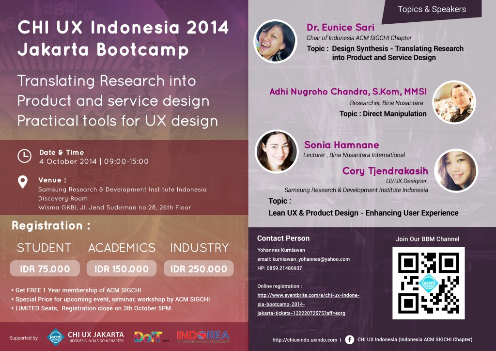 Jakarta Bootcamp - CHI UX Indonesia 2014.